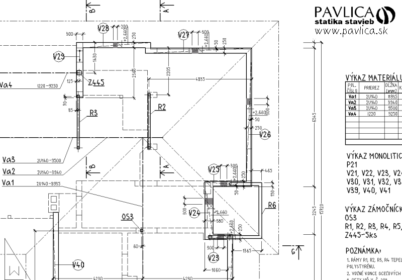 Pavlica Statika Stavieb Projekty Pre Realizaciu Stavby